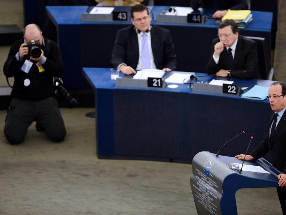 Comoparecencia del presidente de Francia, François Hollande