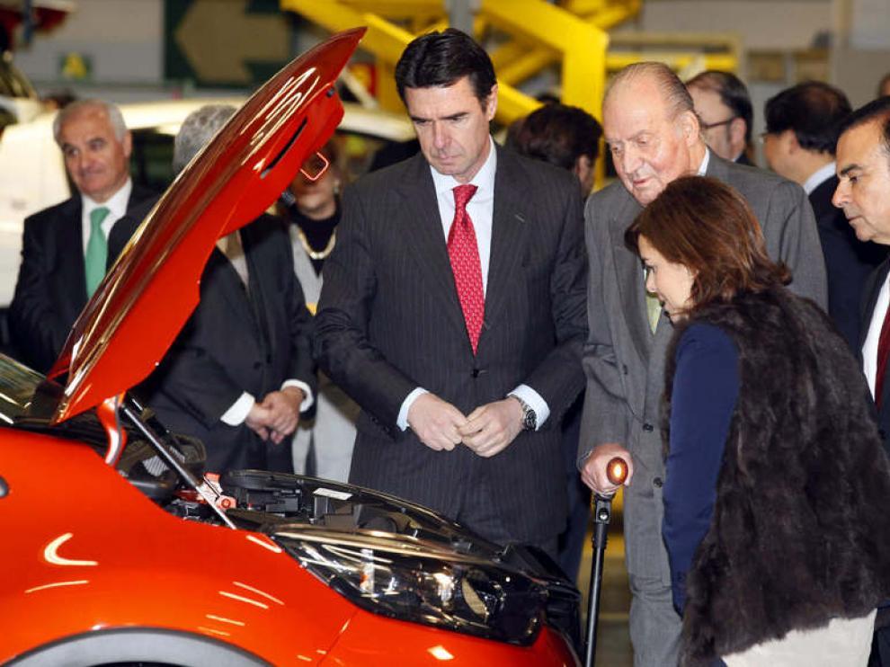 Visita del Rey a las instalaciones de Renault en Valladolid