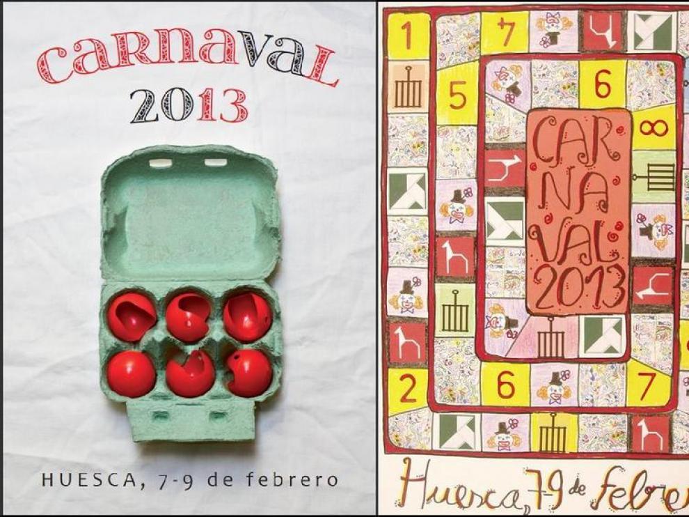 Ganadores del concurso de carteles de carnaval en categoría adulto e infantil