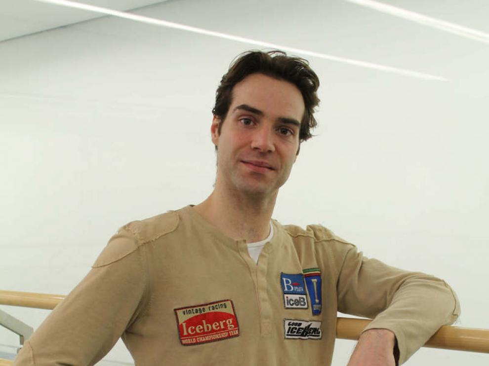 El bailarín zaragozano Gonzalo García.