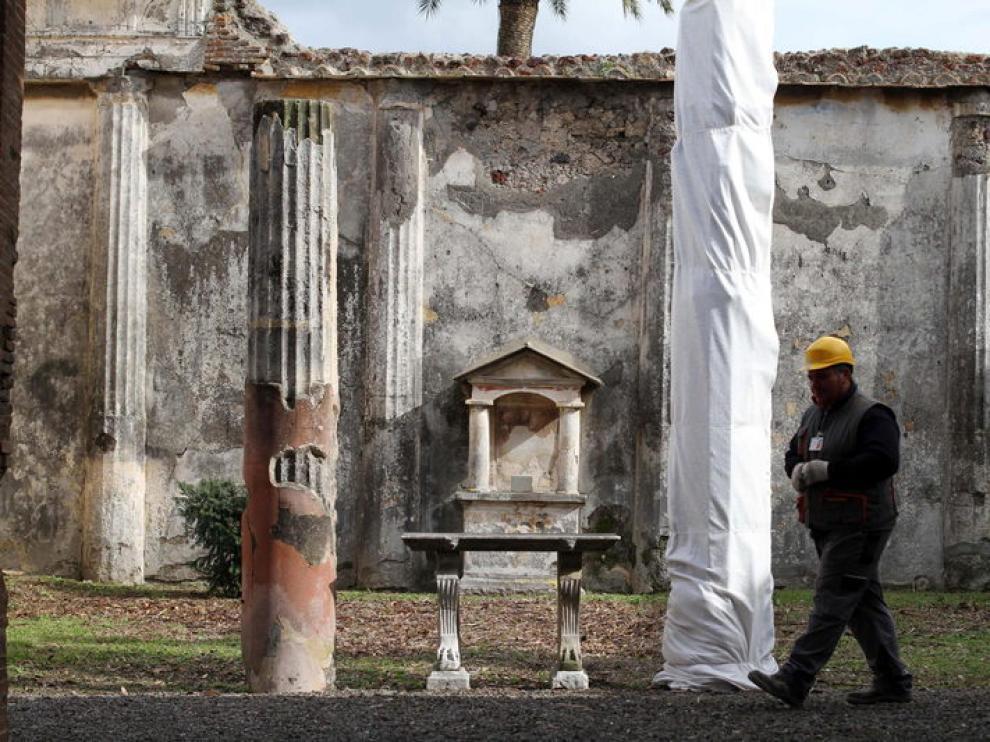 Obras en Pompeya