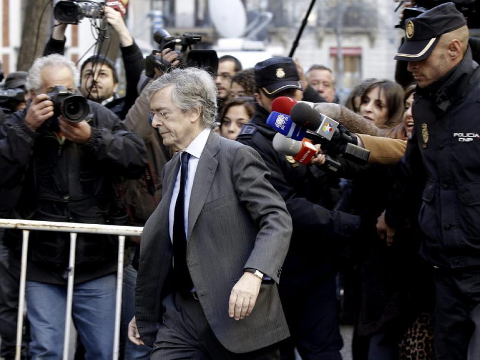 Jorge Trías a su llegada a la sede de la fiscalía de Anticorrupción