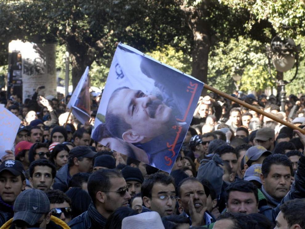 Protesta en Túnez