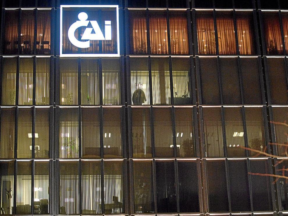 Sede de la CAI, perteneciente a Caja3, en Zaragoza