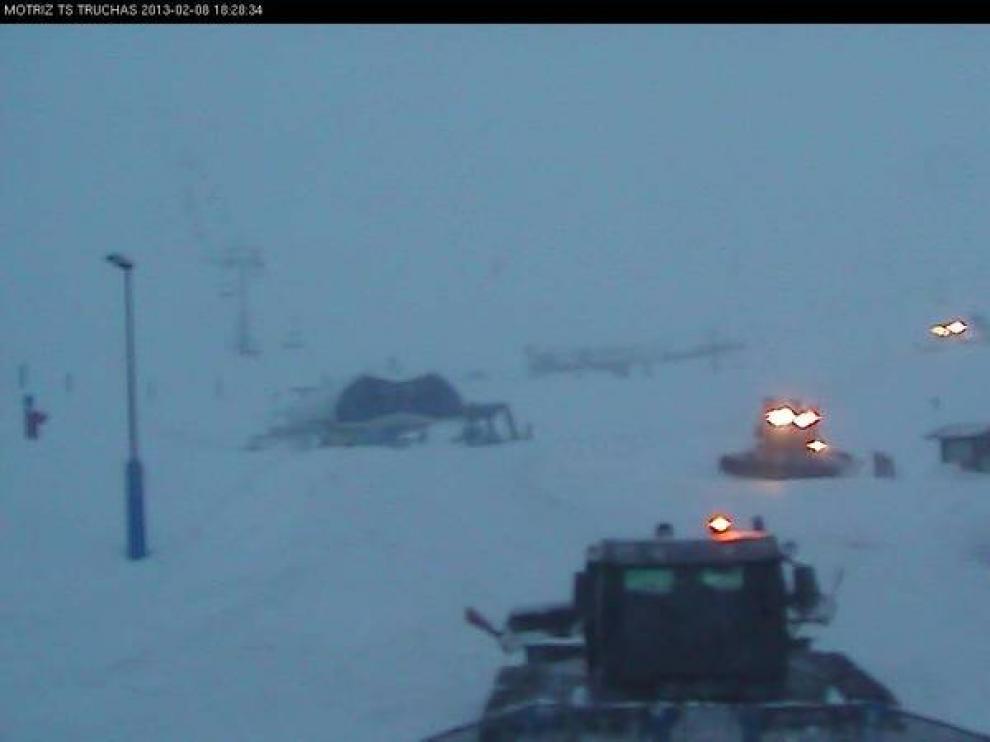 La estación de esquí de Astún, este viernes.