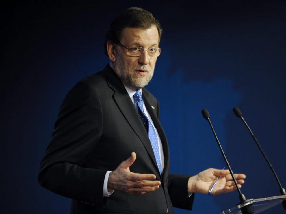 El presidente Mariano Rajoy, en rueda de prensa este viernes.