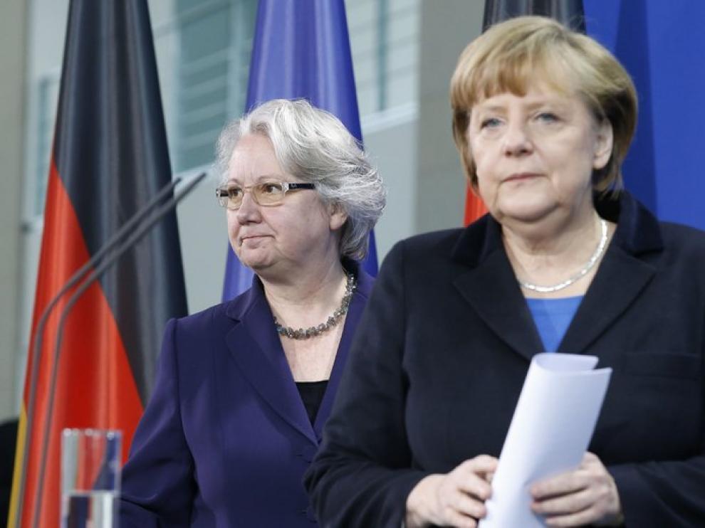 Schavan y Merkel
