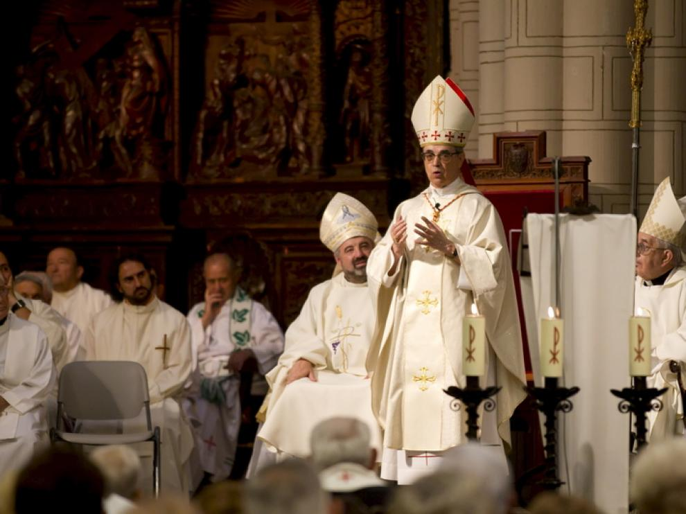 Misa celebrada por el cardenal Santos Abril
