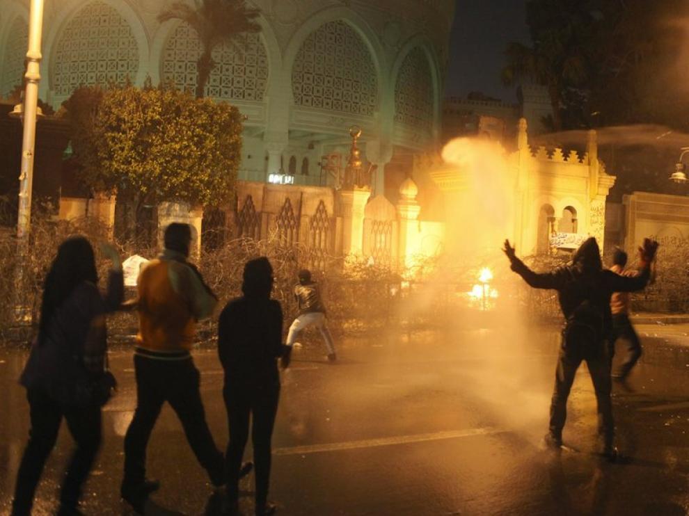 Disturbios en las calles de El Cairo