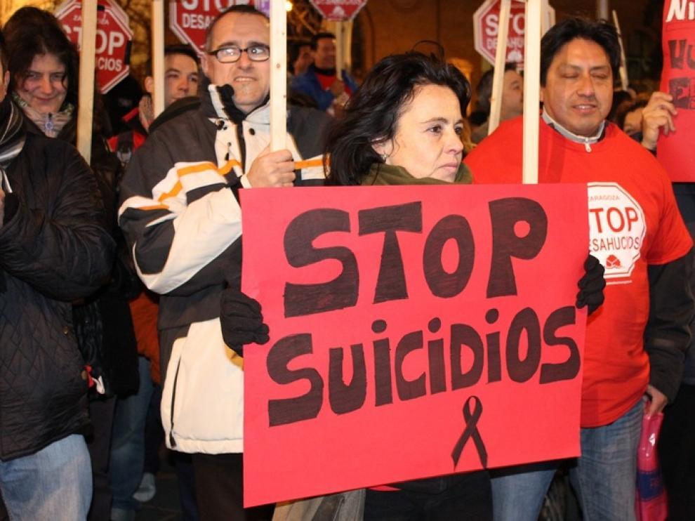 Concentración de Stop Desahucios en Zaragoza