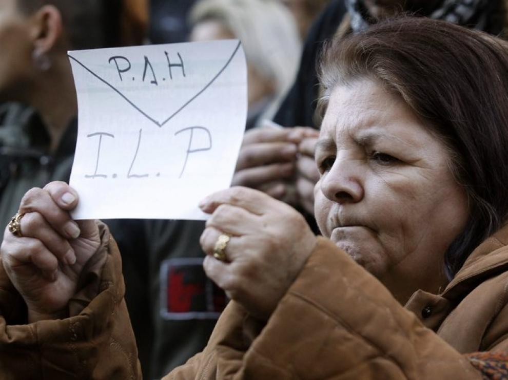 Protesta de la Plataforma de Afectados por la Hipoteca