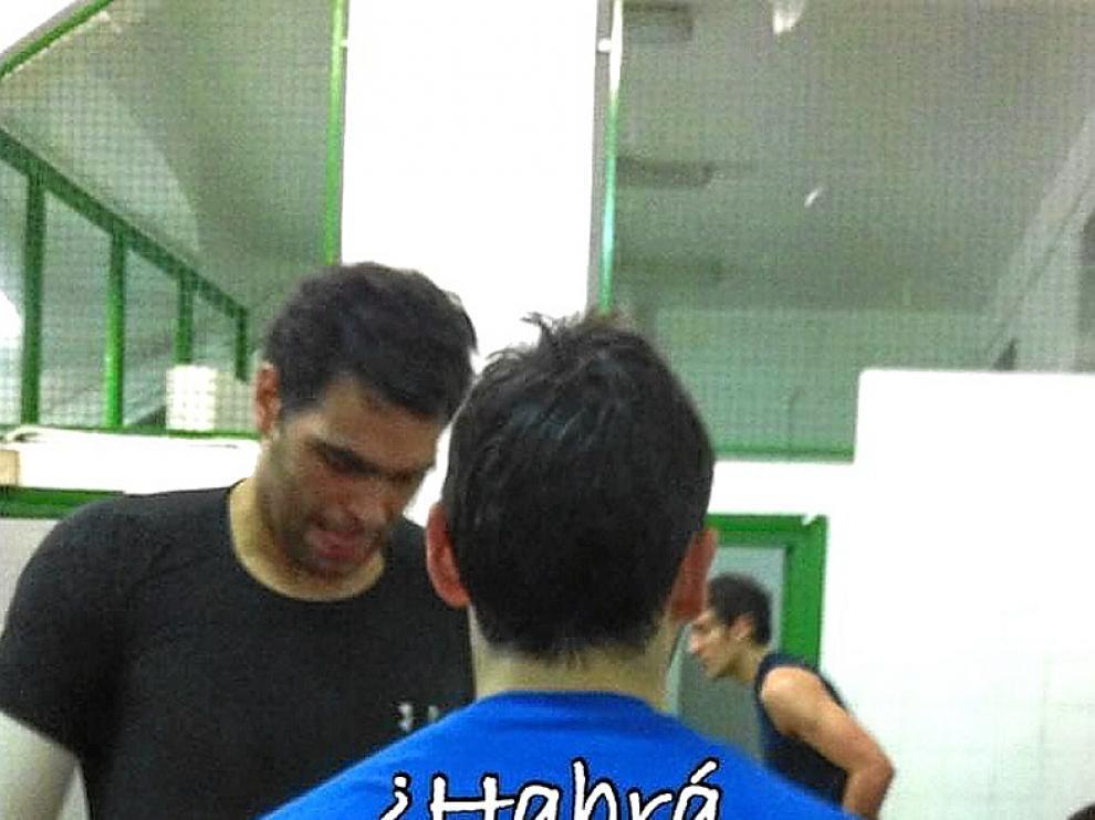 Foto modificada de una camiseta del Mundial de balonmano