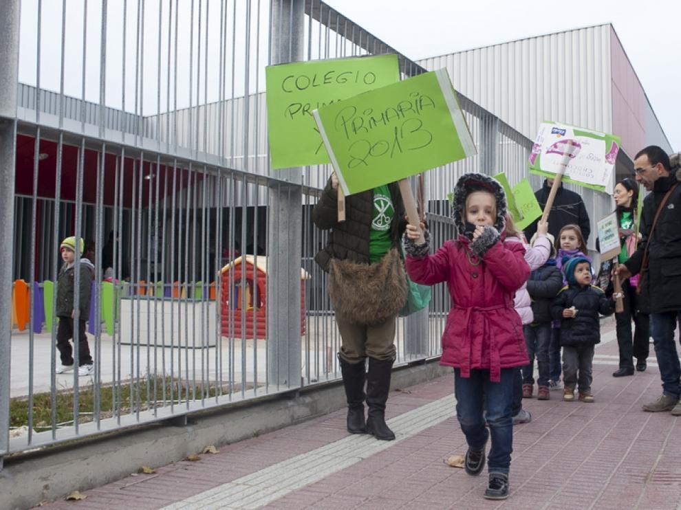 Protesta de padres y alumnos en diciembre