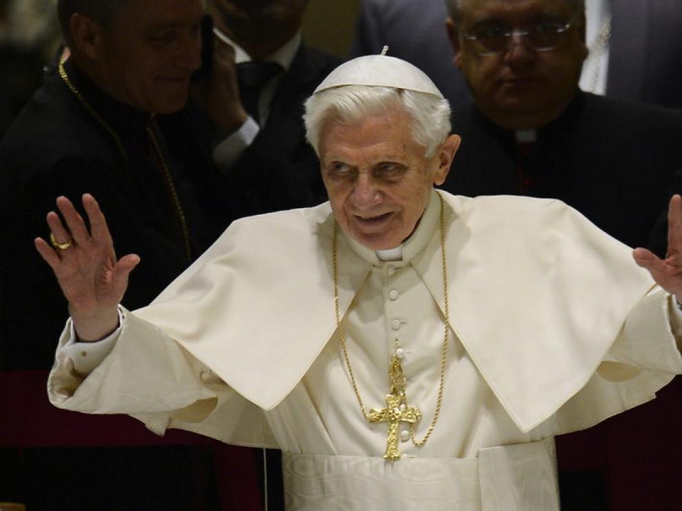 Benedicto XVI durante la audiencia pública
