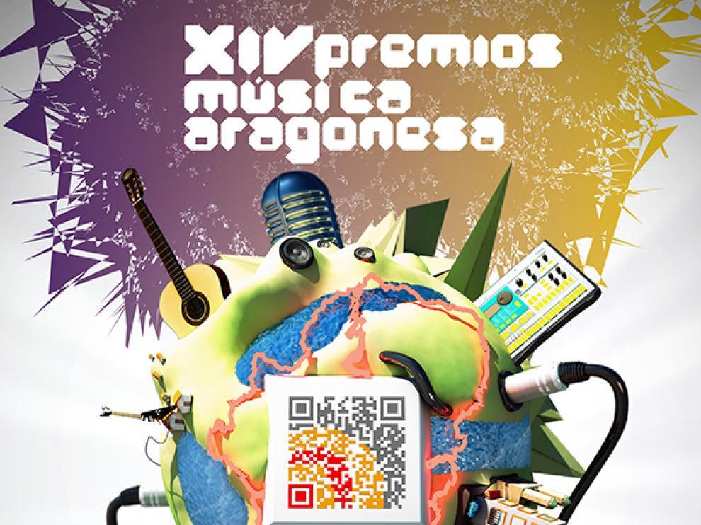 Cartel de esta edición de los Premios de la Música Aragonesa.