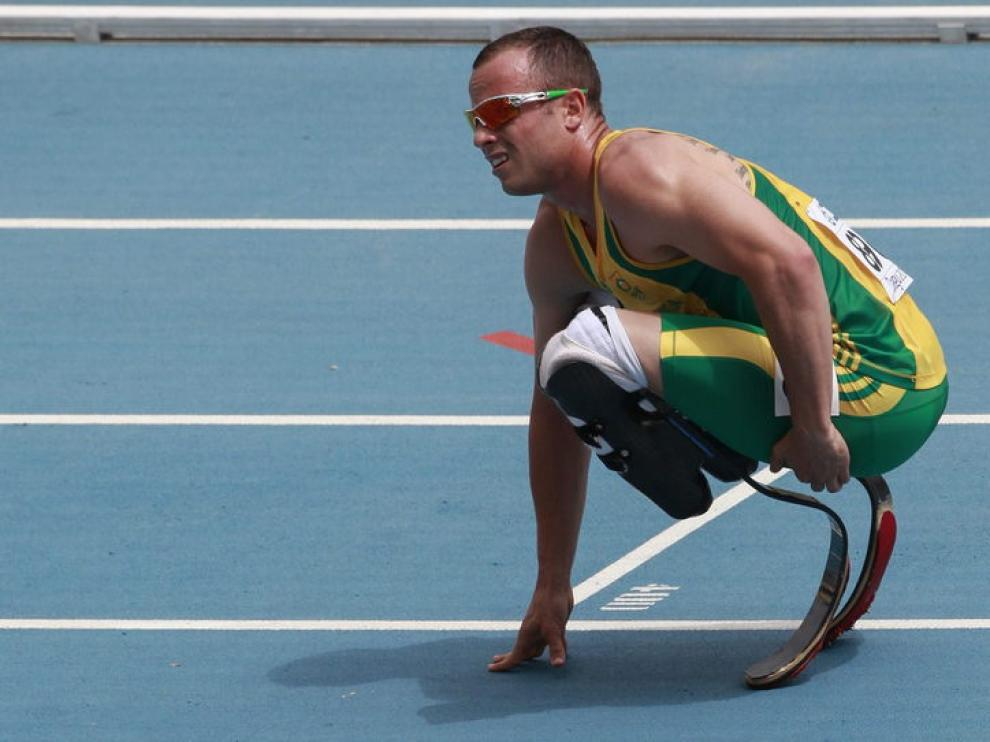Pistorius, durante una competición