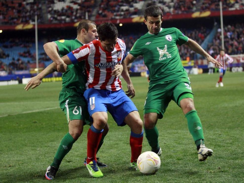 La defensa del equipo ruso no dio opciones de marcar a los rojiblancos
