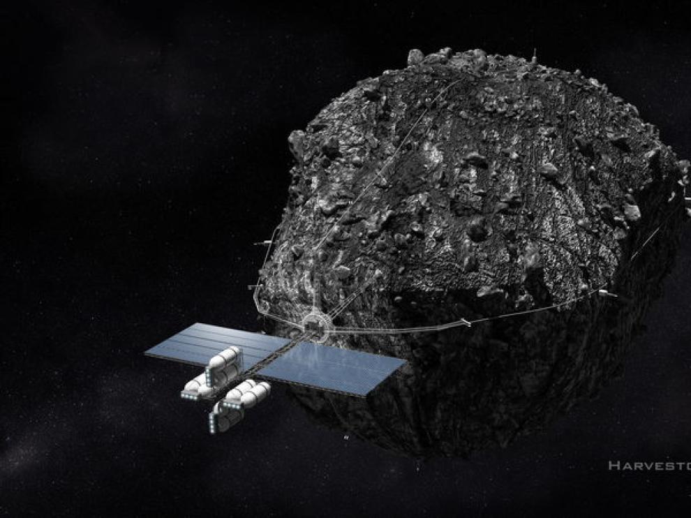 Prototipo de nave para agarrar asteroides