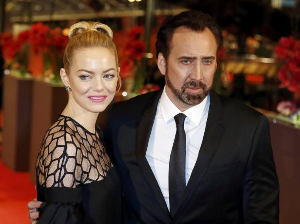 Nicholas Cage y Emma Stone presentaron fuera de concurso 'The Croods'