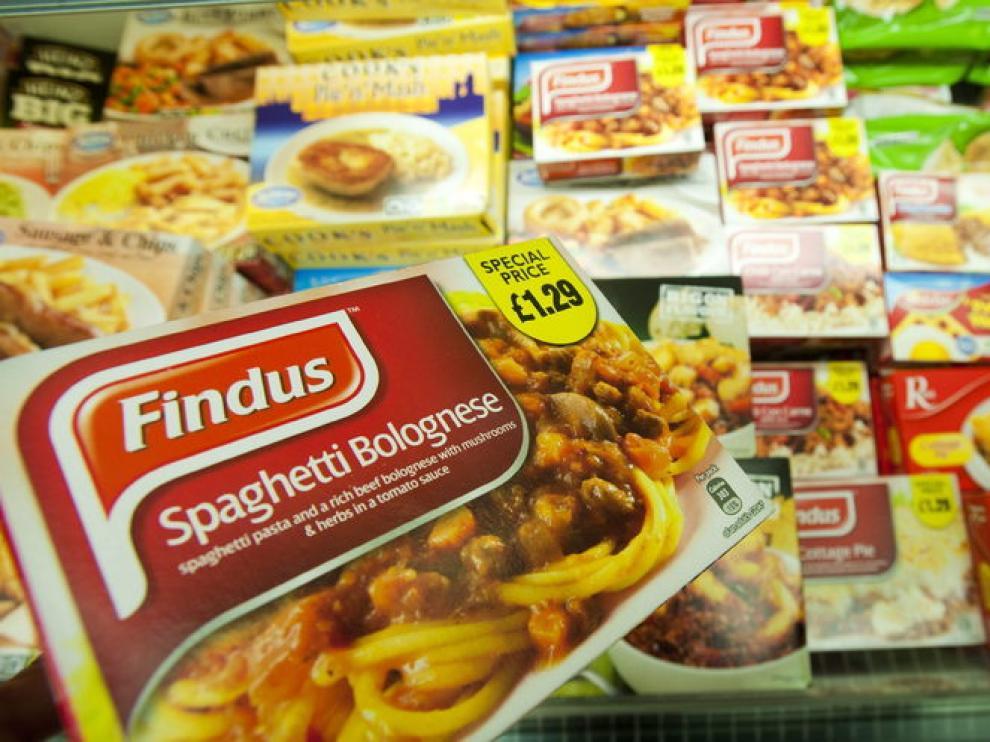 Platos precocinados de la marca Findus que contienen carne de caballo