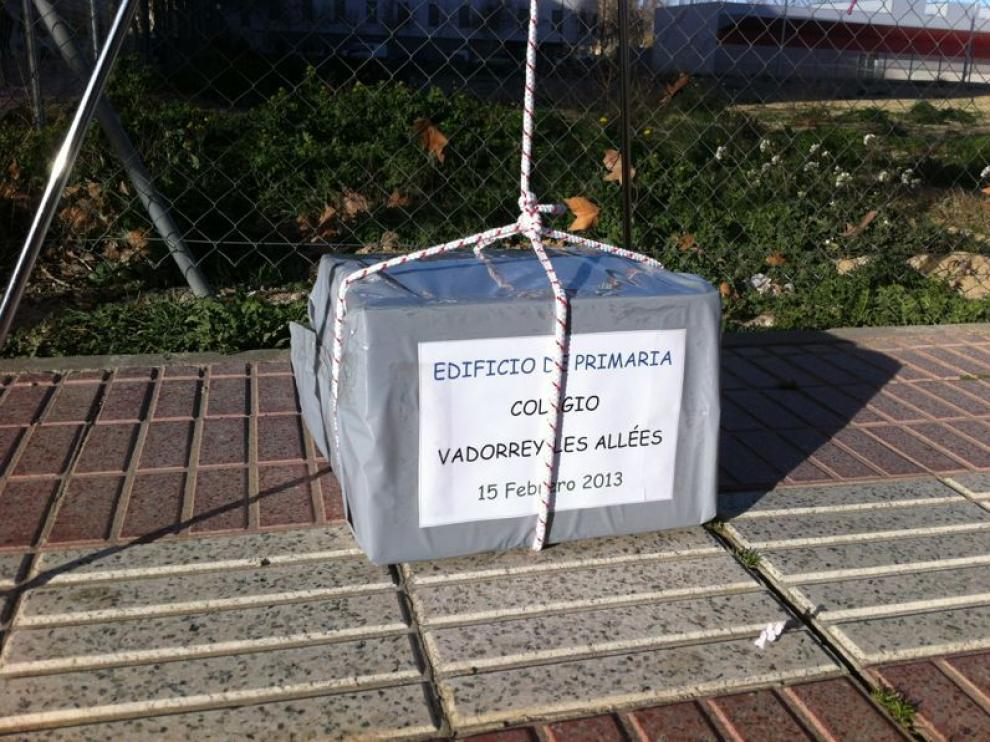 Primera piedra del colegio de vadorrey
