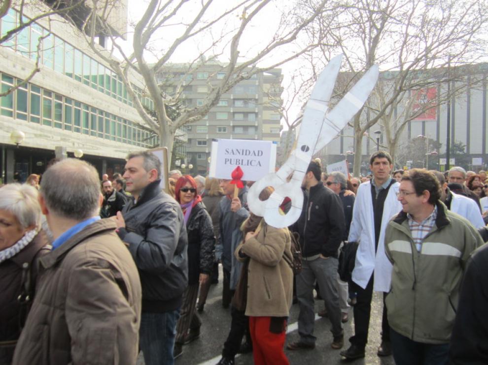 Manifestación en Zaragoza, este domingo