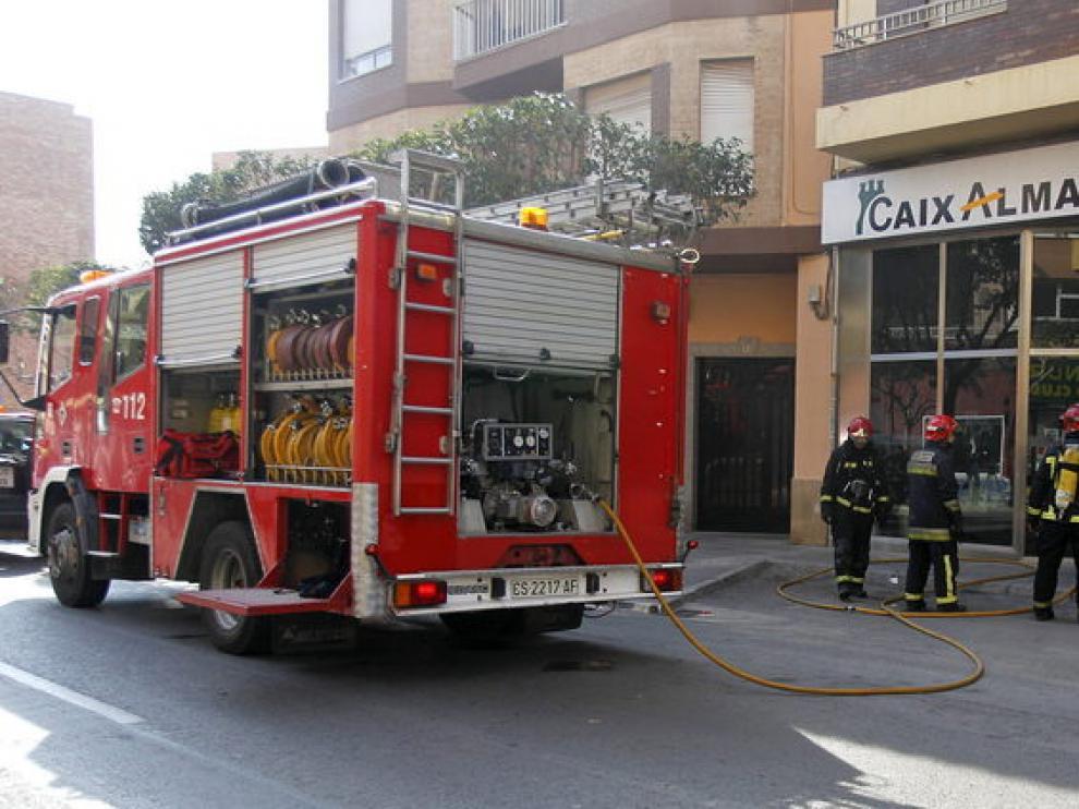 Cajero donde se quemó la mujer en Alicante