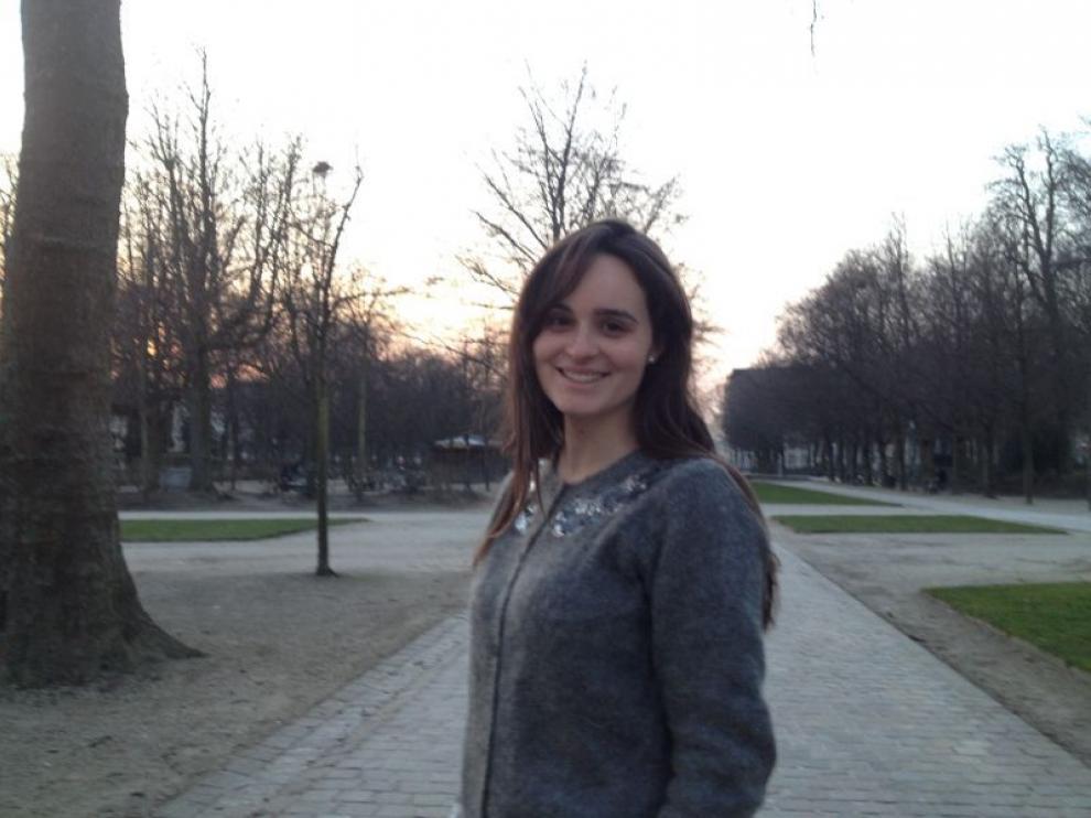 Carmen Marco, en un parque de Bruselas