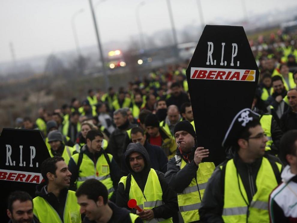 Huelga de trabajadores de Iberia