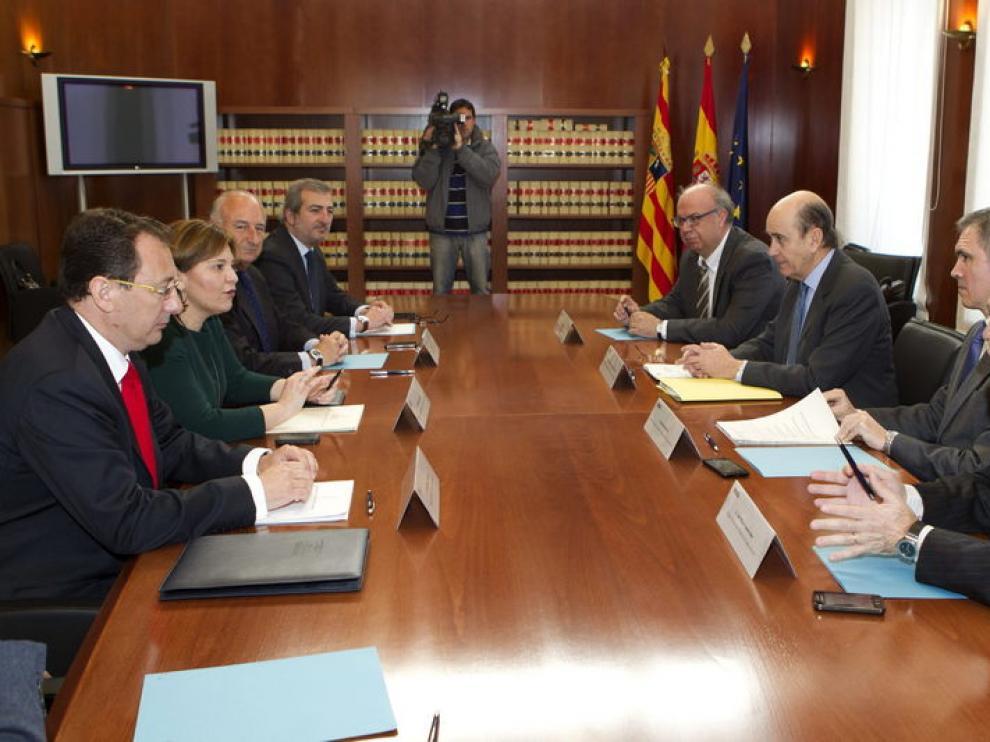 Reunión en Teruel de los consejeros de Aragón y Valencia