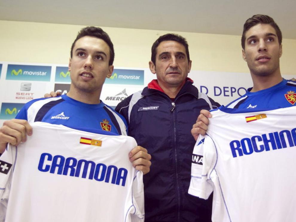 Carmona, con Jiménez y Rochina