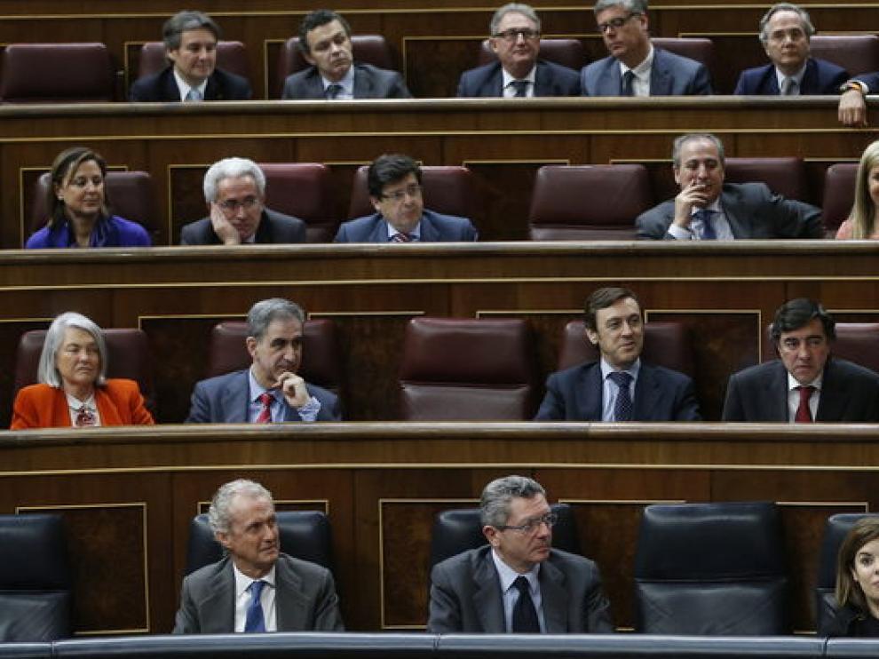 Imagen de la primera joranada del debate en el Congreso