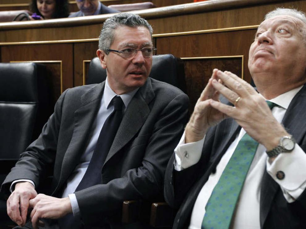 Alberto Ruiz Gallardón y García Margallo en el debate sobre el estado de la Nación