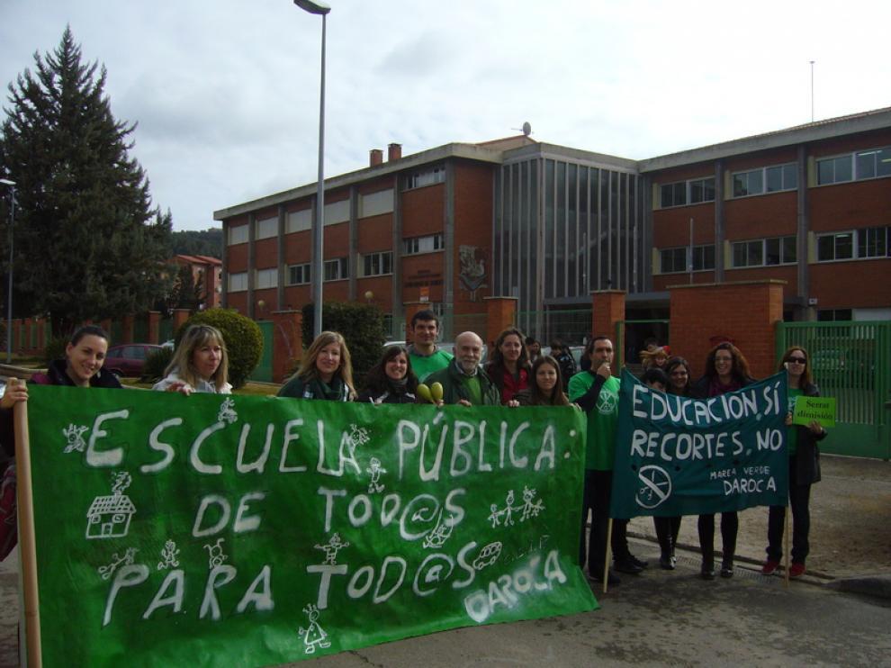 En la anterior protesta organizada por Marea Verde participaron 50 instalaciones aragonesas.