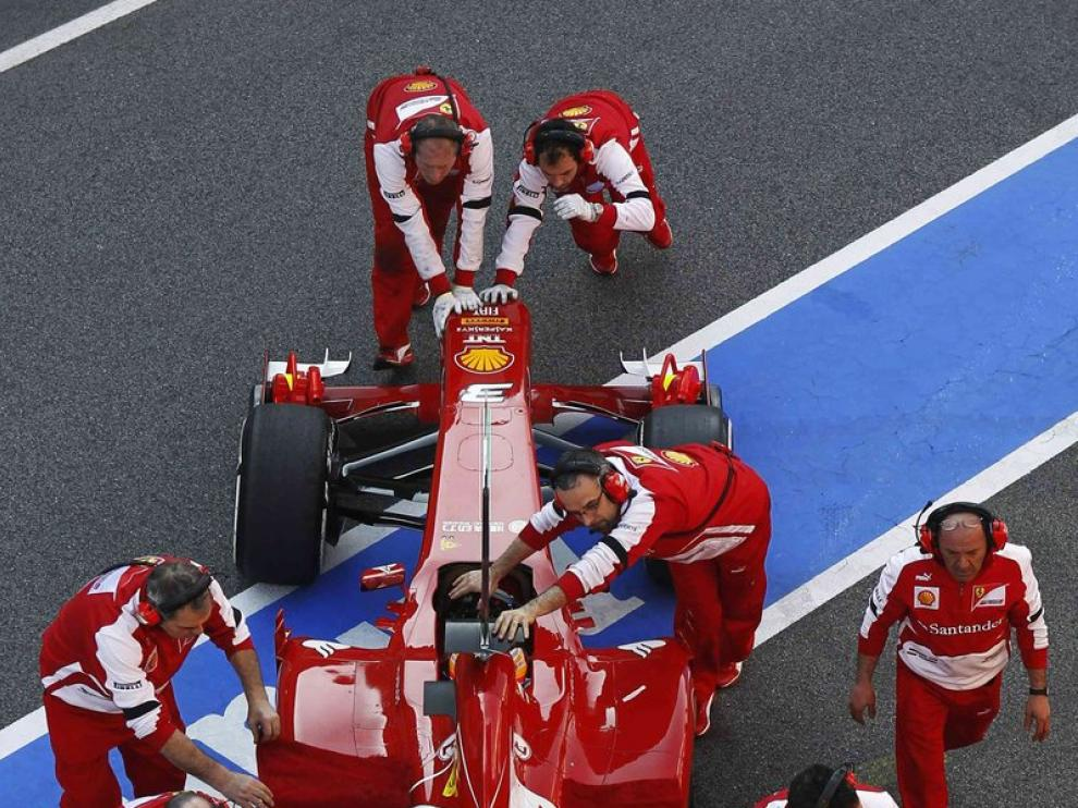 Alonso solo pudo correr 28 vueltas por problemas técnicos en su Ferrari