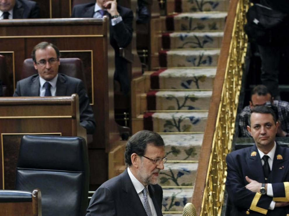 Mariano Rajoy accediendo a la tribuna