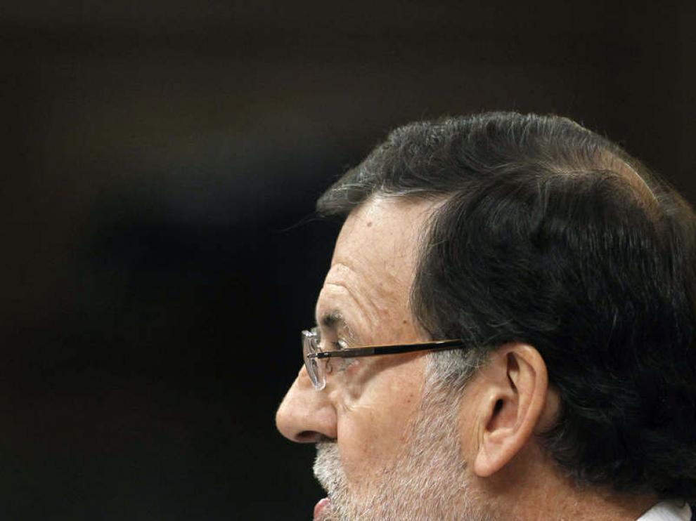 Mariano Rajoy este miércoles en el Congreso
