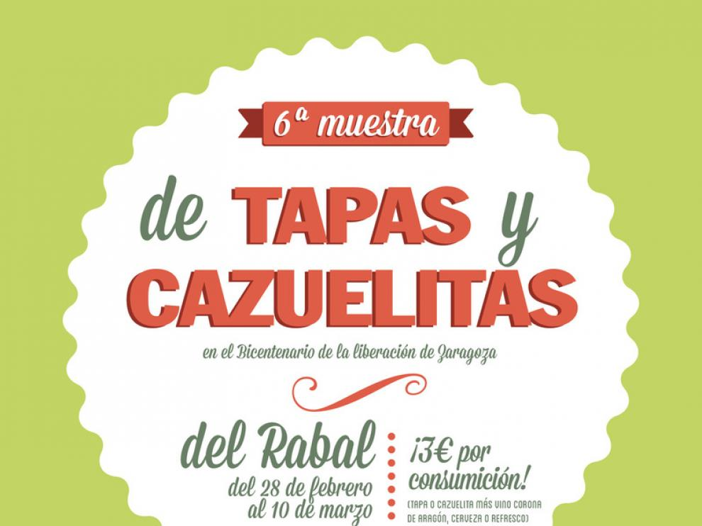Cartel de la VI muestra de tapas y cazuelitas del Rabal.
