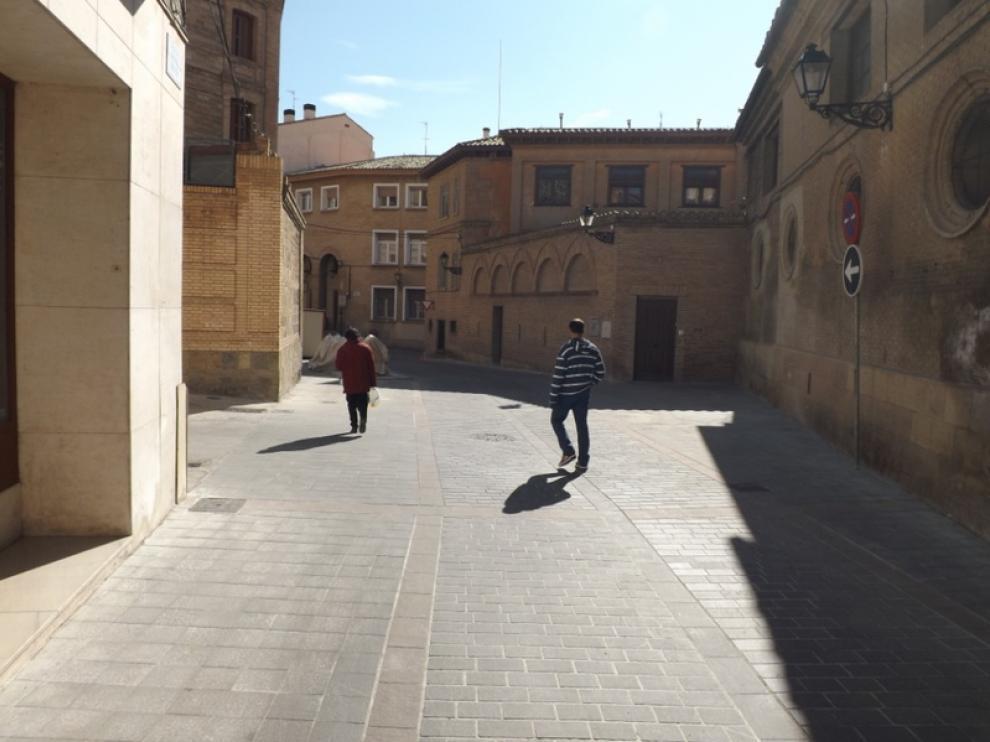 Aspecto de la remozada calle de Sancho Abarca, en Huesca
