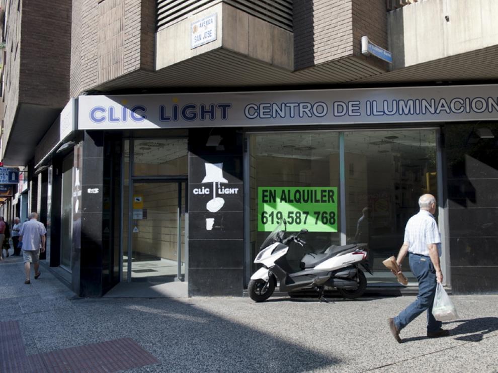 Un establecimiento cerrado en San José