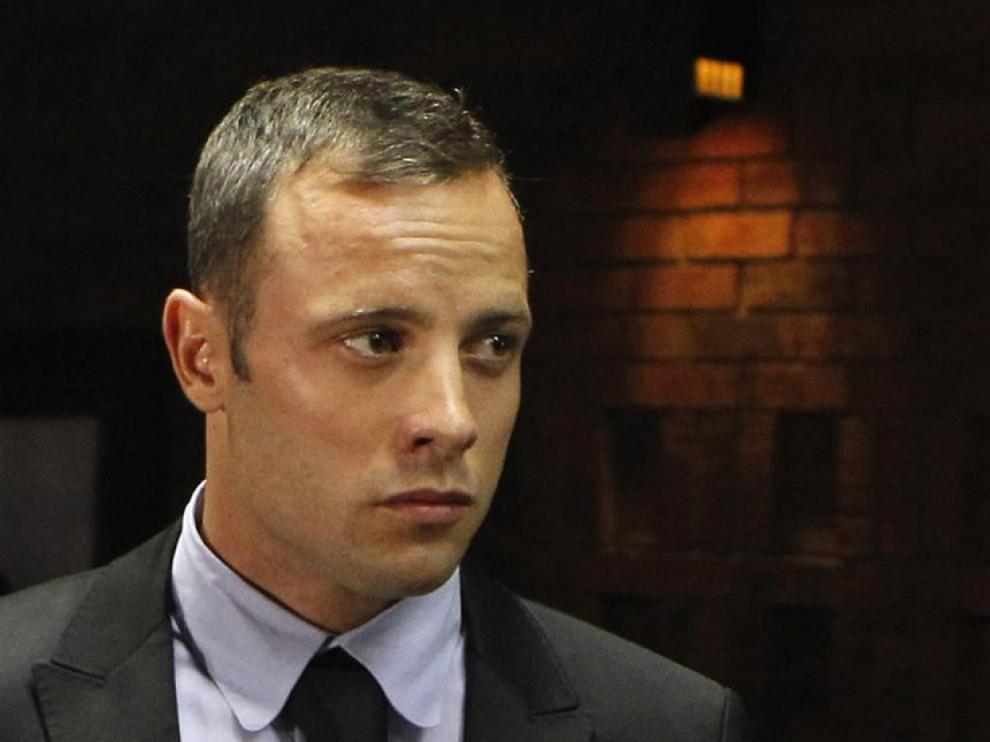 Oscar Pistorius en los juzgados de Pretoria