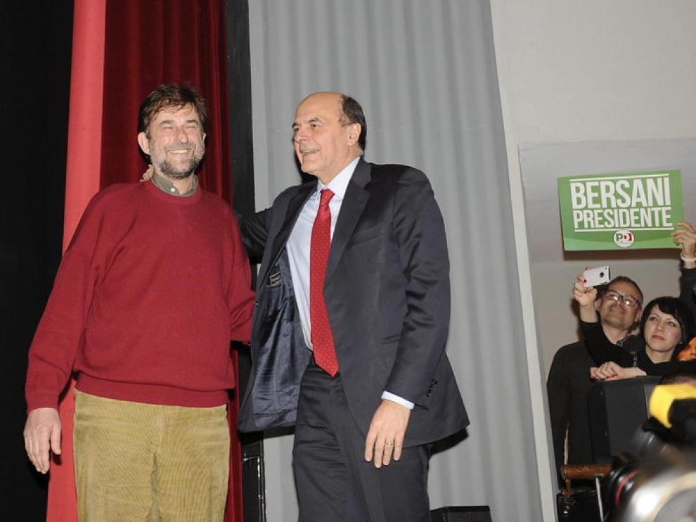 El director Nani Moretti ha apoyado a Bersani en el cierre de campaña