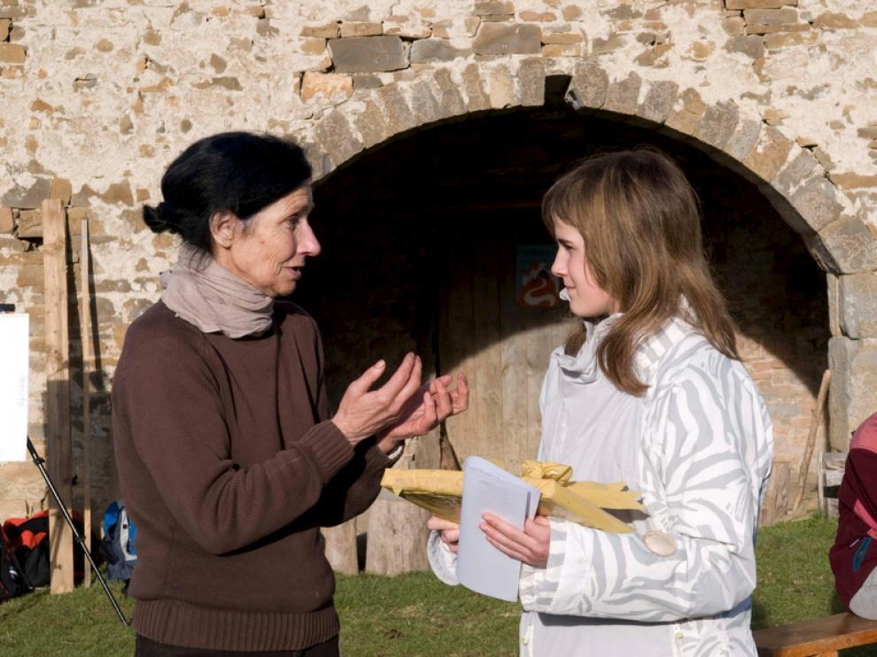 Angelines Villacampa y Susín, a la izquierda.