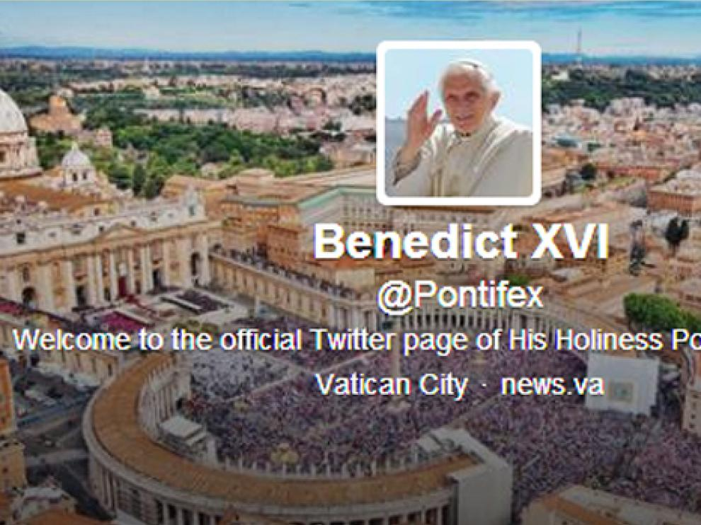 Portada de Twitter de @Pontifex
