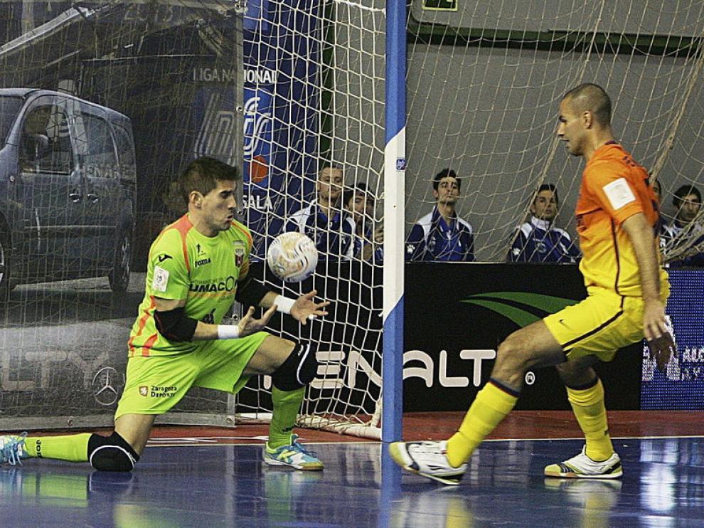 Un momento del partido Umacon-Barcelona
