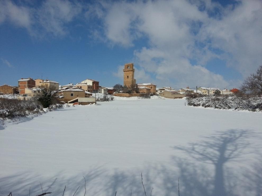 Nevada en Cucalón, en la provincia de Teruel.