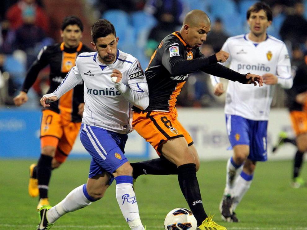 Partido entre el Real Zaragoza y el Valencia