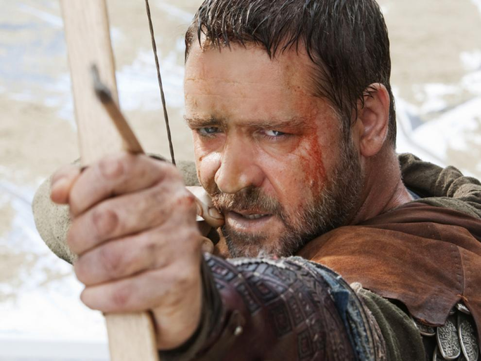 Robin Hood caracterizado por Russel Crowe