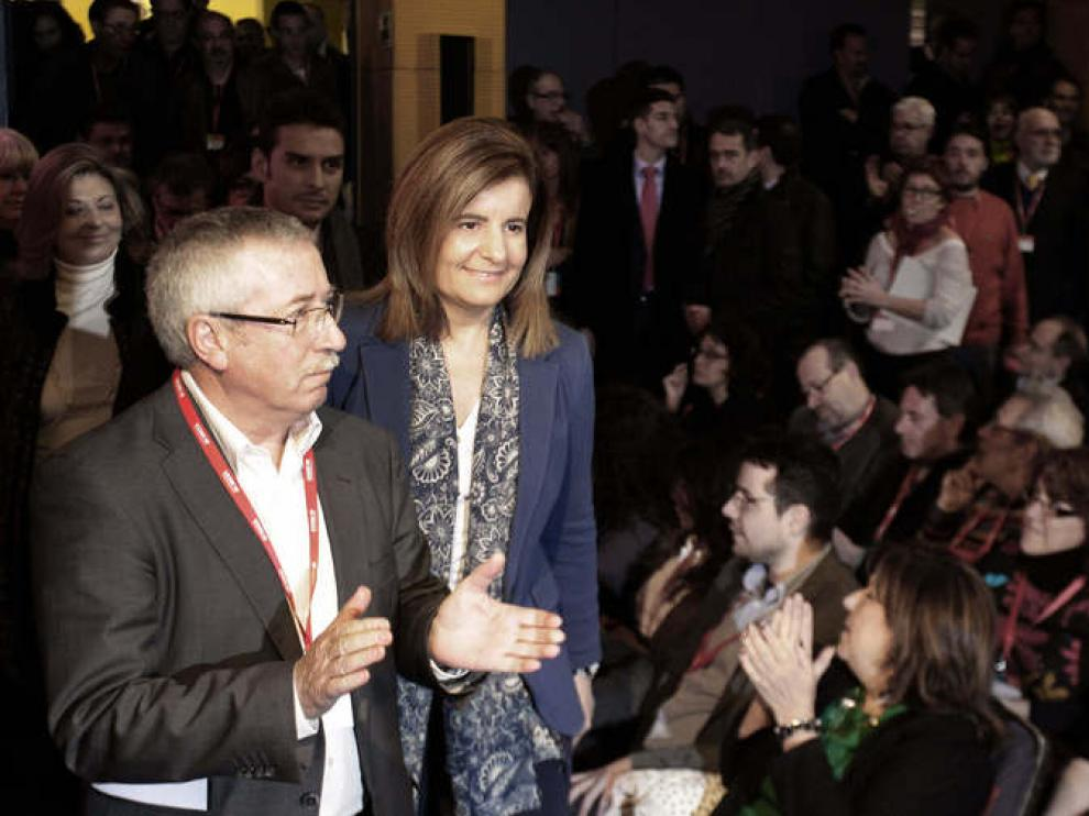 Toxo, con la ministra Fátima Báñez