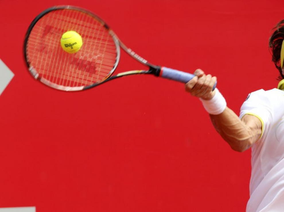 Ferrer, durante la final del torneo de Buenos Aires
